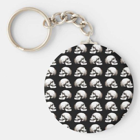 Halloween skull pattern key ring