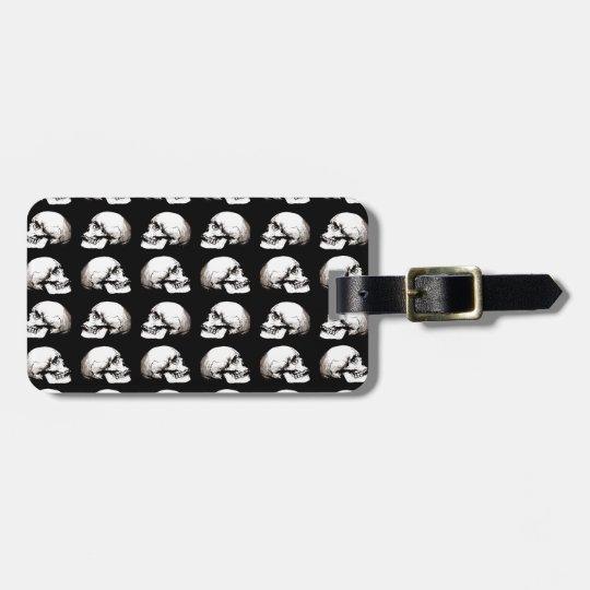 Halloween skull pattern luggage tag