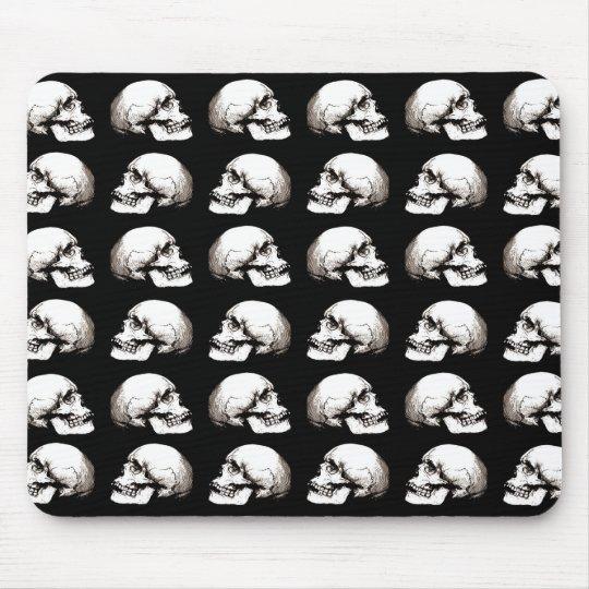 Halloween skull pattern mouse pad