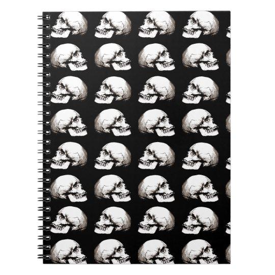 Halloween skull pattern notebook