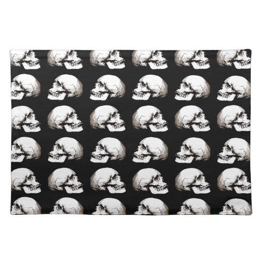Halloween skull pattern placemat