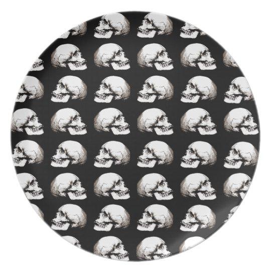 Halloween skull pattern plate
