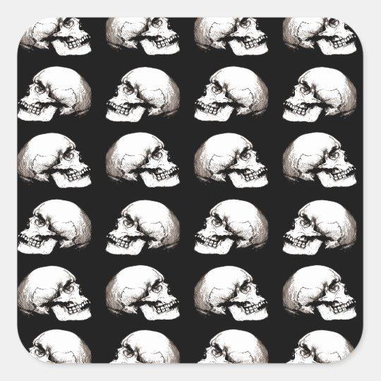 Halloween skull pattern square sticker
