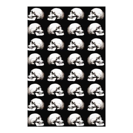 Halloween skull pattern stationery