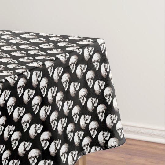 Halloween skull pattern tablecloth