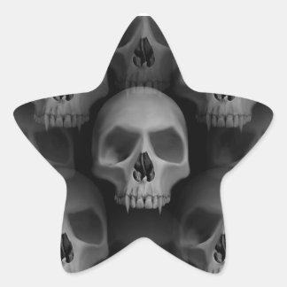 Halloween skull star star sticker