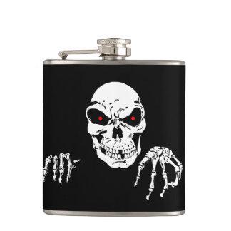 Halloween Skull Vinyl Wrapped Flask