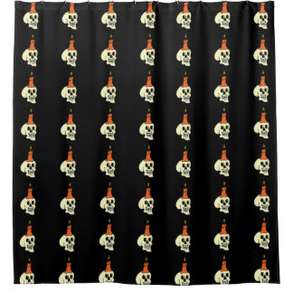Halloween Skulls and candles Shower Curtain