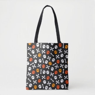 Halloween Skulls And Crossbones Tote Bag