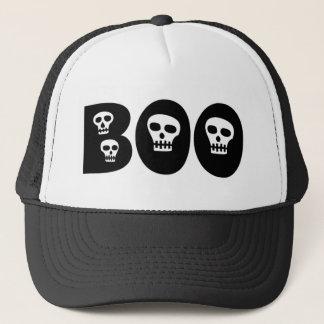 """Halloween Skulls """"Boo"""" Trucker Hat"""