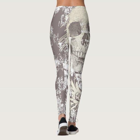 Halloween Skulls Pattern Leggings