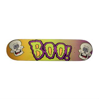 Halloween Skulls with Boo 18.1 Cm Old School Skateboard Deck