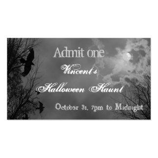 Halloween Sky with Ravens Custom Party Ticket Business Card Templates