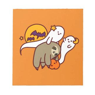 Halloween Sloth Notepad