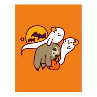 Halloween Sloth Postcard