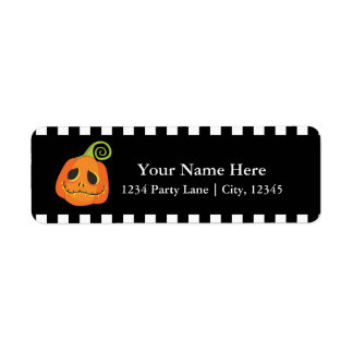 Halloween Smiley Pumpkin Cute Whimsical Invitation Return Address Label