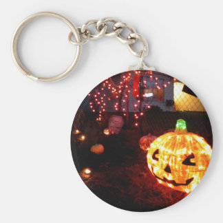 Halloween Sparkles Basic Round Button Key Ring