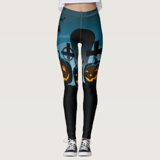 Halloween Special with Jack-o-lanterns Leggings