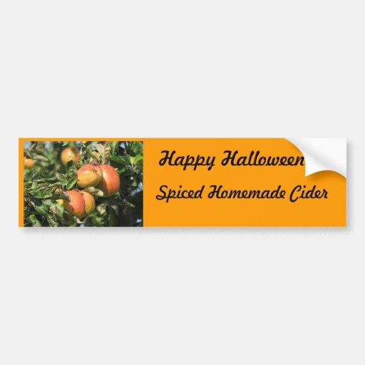 Halloween Spiced Cider Label Bumper Sticker