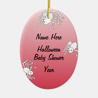 Halloween Spider Baby Shower Oval Ornaments