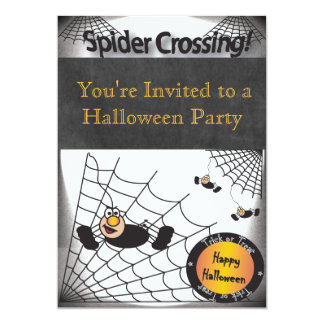 Halloween Spider Crossing Party 13 Cm X 18 Cm Invitation Card