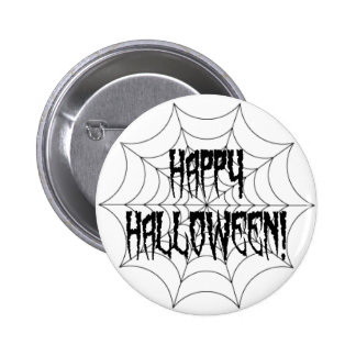 Halloween Spider Fingers and Web 6 Cm Round Badge
