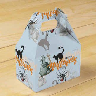 Halloween Spider Grave Favour Box