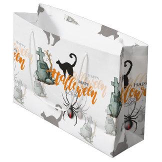 Halloween Spider Grave Large Gift Bag