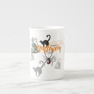 Halloween Spider Grave Tea Cup