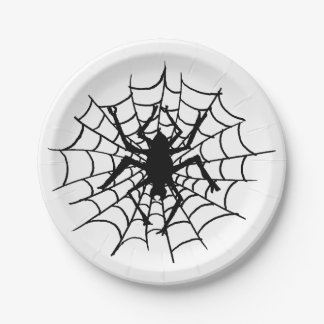 Halloween Spider in the Web Plates