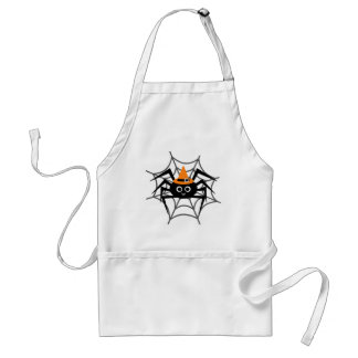 Halloween Spider in Web Tshirts and Gifts Aprons