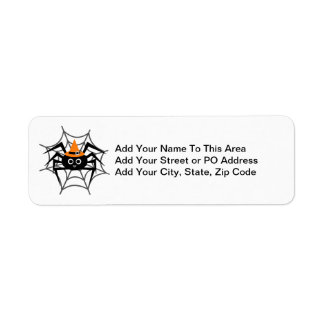 Halloween Spider in Web Tshirts and Gifts Return Address Label
