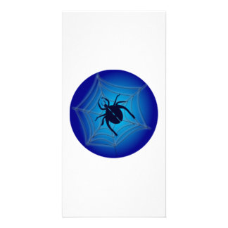 Halloween Spider on Web Photo Card