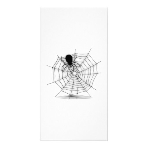Halloween Spider on Web Photo Card Template