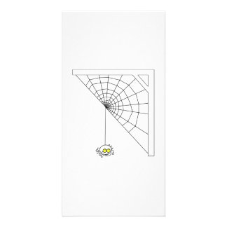 Halloween Spider on Web Personalized Photo Card