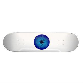 Halloween Spider on Web Custom Skate Board