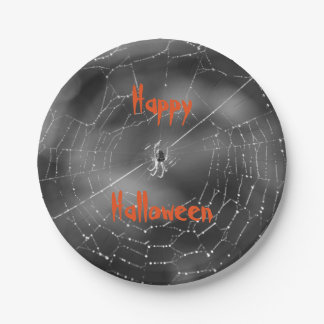 Halloween spider plates 7 inch paper plate