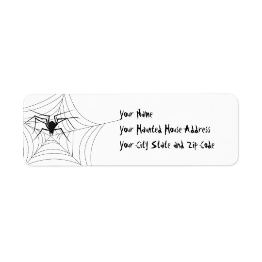 Halloween Spider Return Address Label