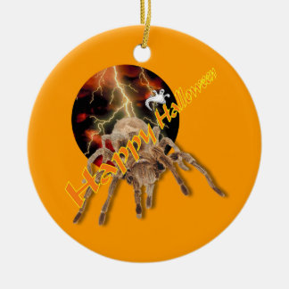 Halloween Spider Round Ceramic Decoration
