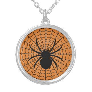 Halloween Spider Round Necklace
