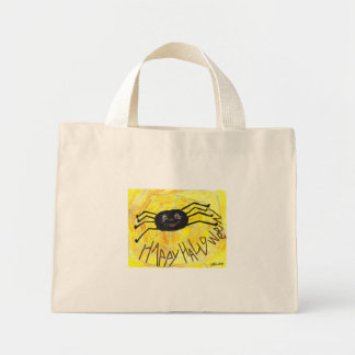 Halloween Spider Tiny Tote Canvas Bags
