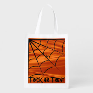 Halloween Spider Trick or Treat  Bag Grocery Bag