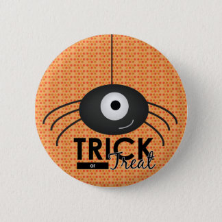 Halloween Spider Trick or Treat Button