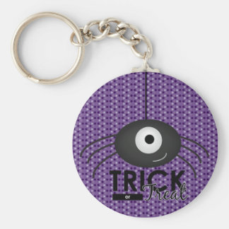 Halloween Spider Trick or Treat Key Chain (Purple)
