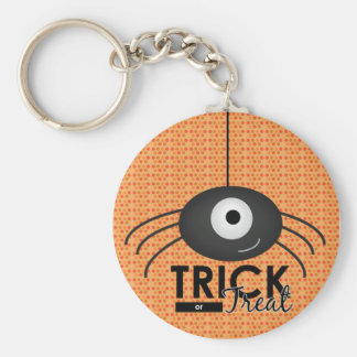 Halloween Spider Trick or Treat Key ring Keychain