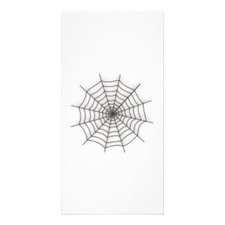 Halloween Spider Web Photo Card Template