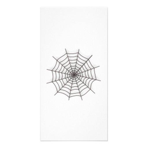 Halloween Spider Web Photo Card Template