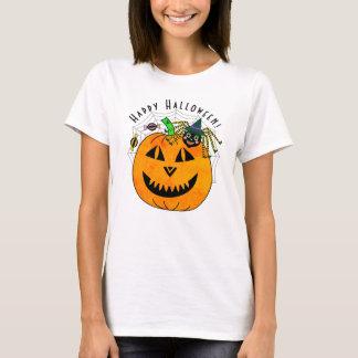 Halloween Spider Witch and Pumpkin T-Shirt