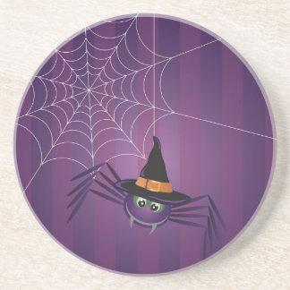 Halloween Spider with Web Coaster
