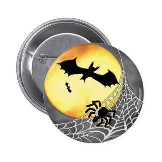 HALLOWEEN SPIDERS & BATS Button